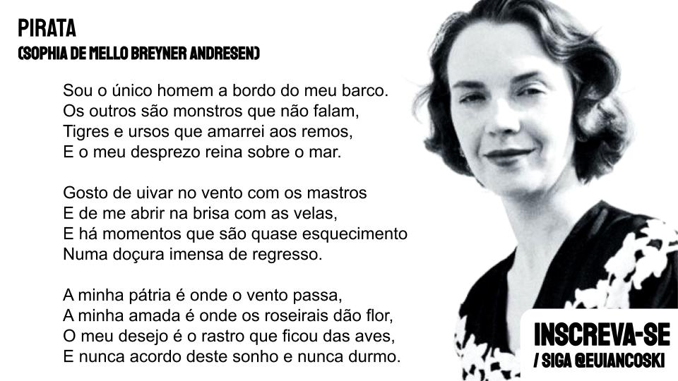 Sophia de Mello Breyner Andresen poesia