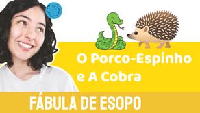 O Porco-espinho e A Cobra  - Jéssica Iancoski | Fábula de Esopo