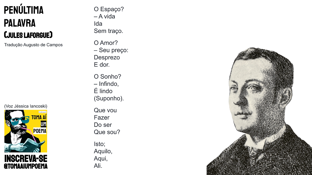 Poema de Jules Laforgue penultima palavra
