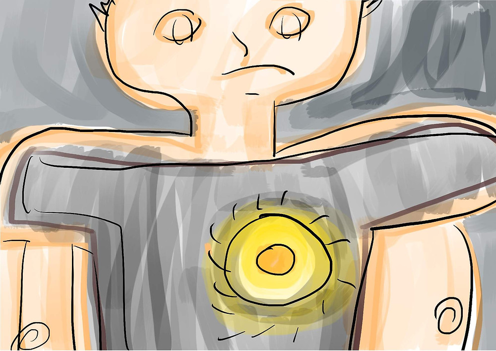 Ilustração menino triste desenho