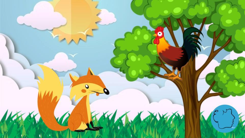O galo e a raposa fabula