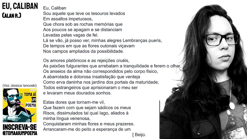 Alan R nova poesia brasileira eu caliban