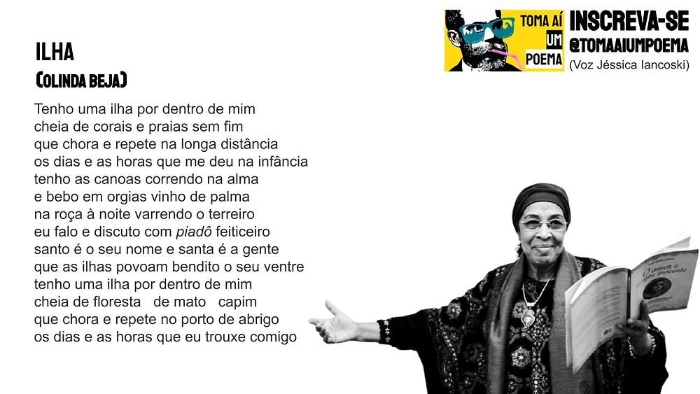 Poema de Olinda beja ilha