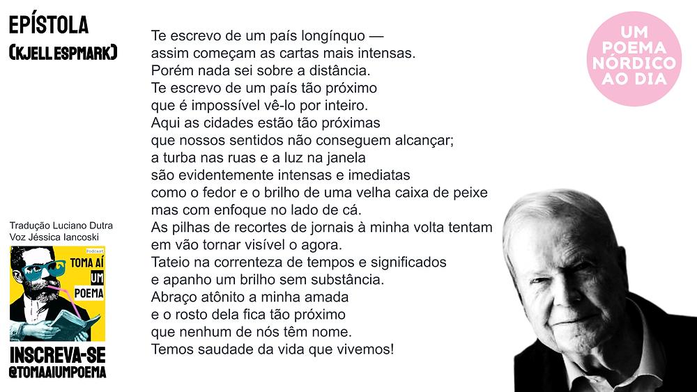 Poema de Kjell Espmark epístola