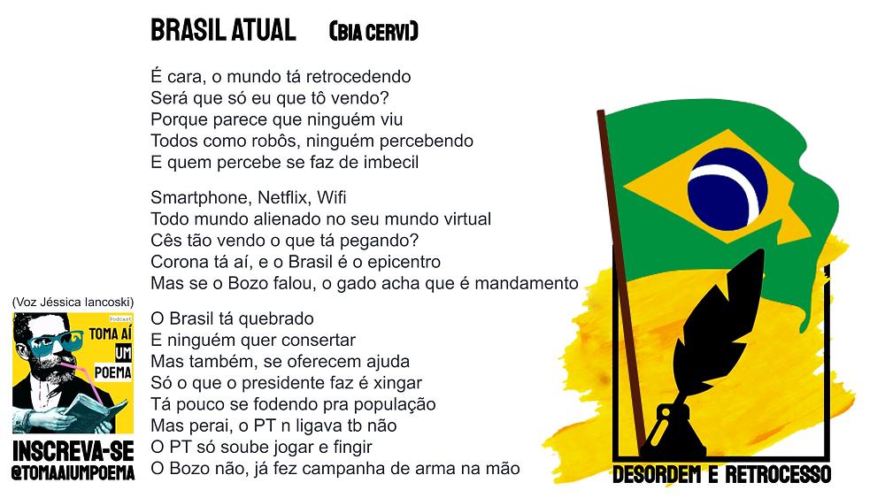 Poema de Bia Cervi Brasil Atual