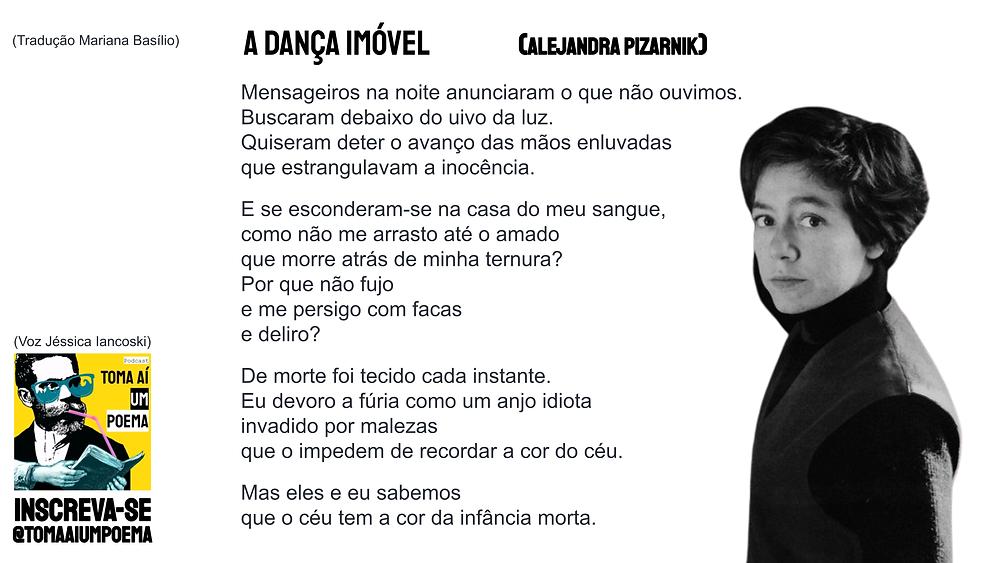 Alejandra Pizarnik Poema A Dança Imóvel