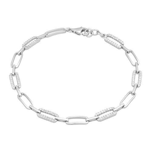 Sterling Silver Link Style Bracelet