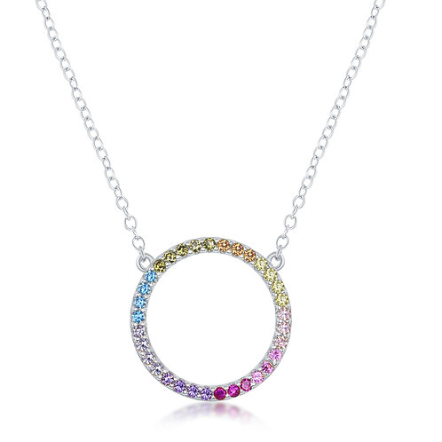 Rainbow Circle Pendant