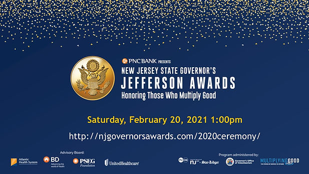 NJ Governors Jefferson Awards Honoring Operation Bling 2021