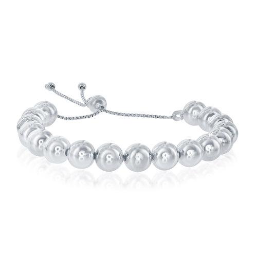 Sterling Silver 6mm Polished Bead Bracelet