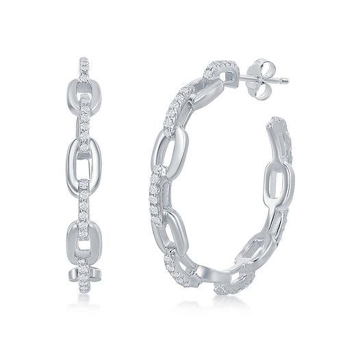 Sterling Silver Link Style Earrings