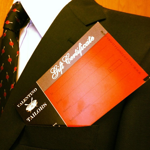 Valentino Tailors Gift Card