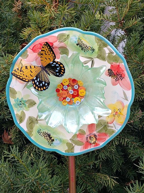 Green Butterfly Buttons