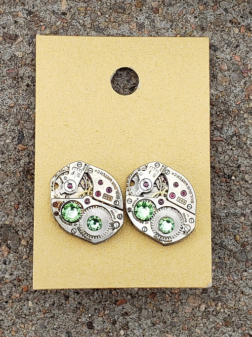 Pale Green Watch Studs