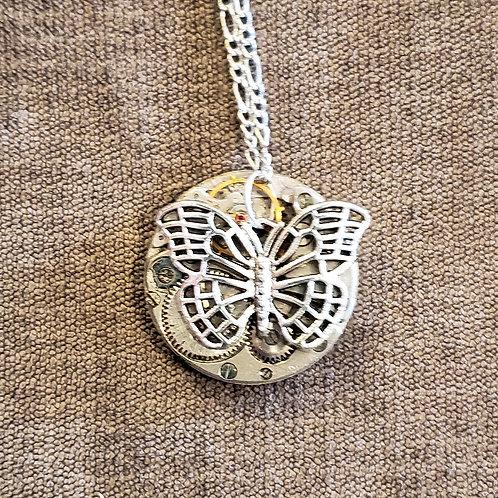 Open Silver Butterfly Watch