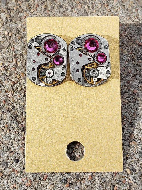 Hot PinkWatch Studs