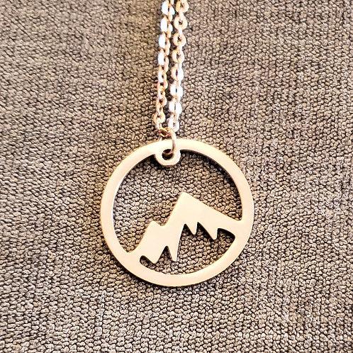 Rose Gold Mountain Medallion
