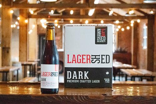 LagerShed Dark 330 mL Vintage Glass Bottles