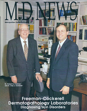 Picture of Robert Freeman, MD and Clay Cockerell, MD.