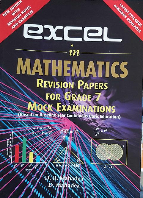 Excel In Mathematics Grade 7 Mock Exam