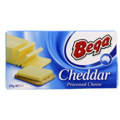 Bega Processed Cheddar Cheese 250G