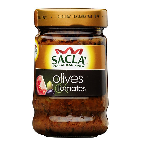 Sacla Olives et Tomates 190g
