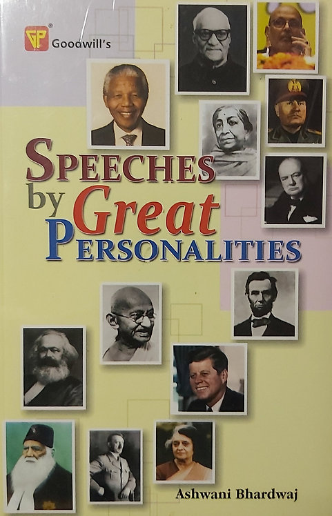 Speeches by Great Personalities
