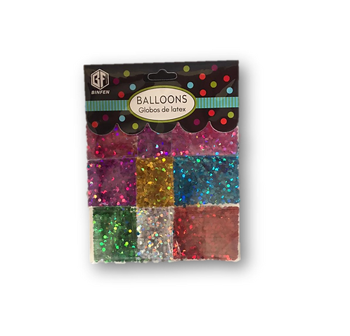 Glitter/Sequins for Ballons (pack of 9 Colours)