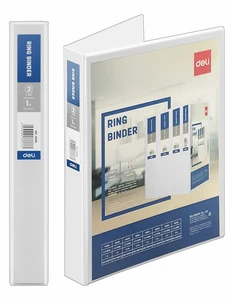 Deli A4 Ring Binder File (200 Sheets)