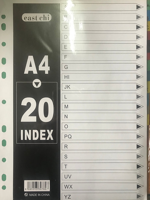 A4 20 Index Divider (A-Yz)