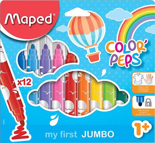 Maped Color'Peps Jumbo Felt Tips (Set Of 12)