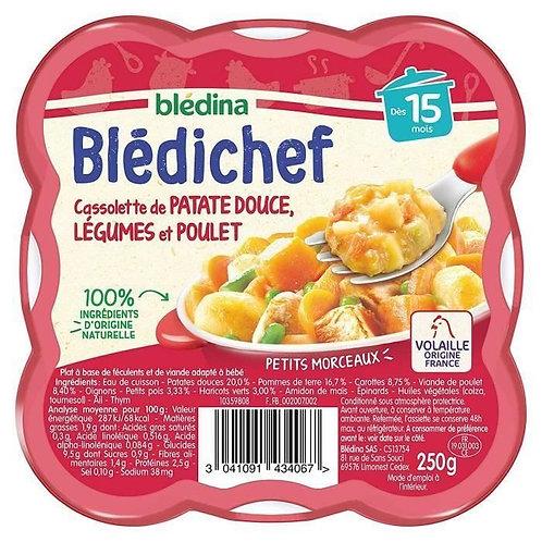 Bledichef  Cassolette De Patate Douce, Légumes Et Poulet  250g