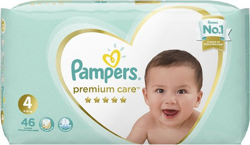 Pampers Premium care 4 (9-18kg) - 46 Diapers