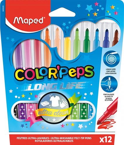 Maped Feutre Color Peps Long Life (x12)