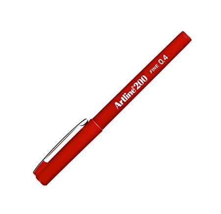 Artline Writing Pen 0.4 200B Red