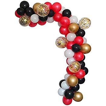 Celebration Set Ballons-Red, Black, White, Gold