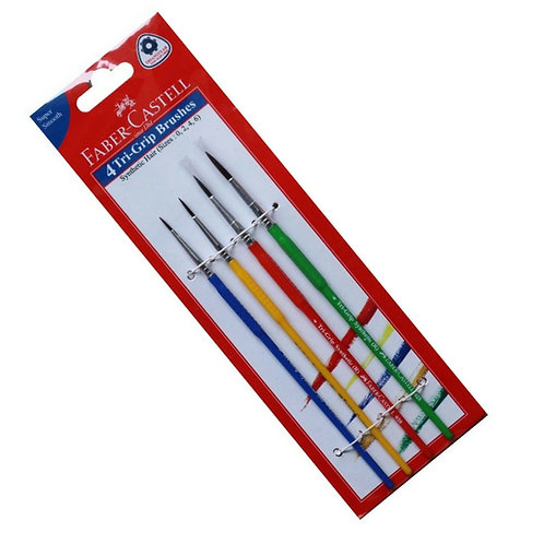 Faber Castell Tri Grip Paint Brushes Round (Set Of 4)