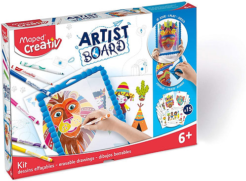 Maped Creativ Artist Board- Eraseable Drawing White Board