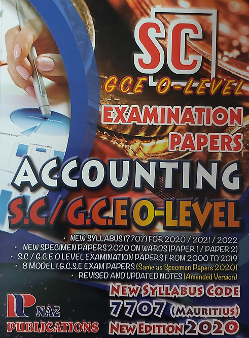 Naz-Accounting S.C/G.C.E O-L  7707 (2000-19) 2020