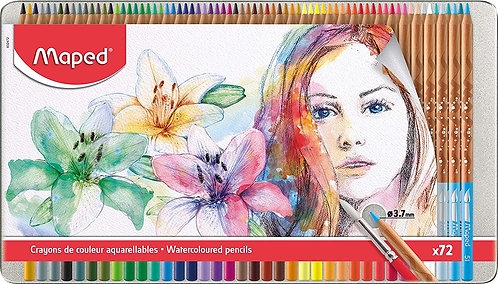 Water Color Pencil For Artists Metal (Box Of 72)