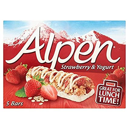 Alpen Bars Strawberry & Yoghurt (box of 5x28g)