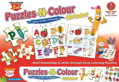Puzzle-N-Colour 2 In1 Educational Series