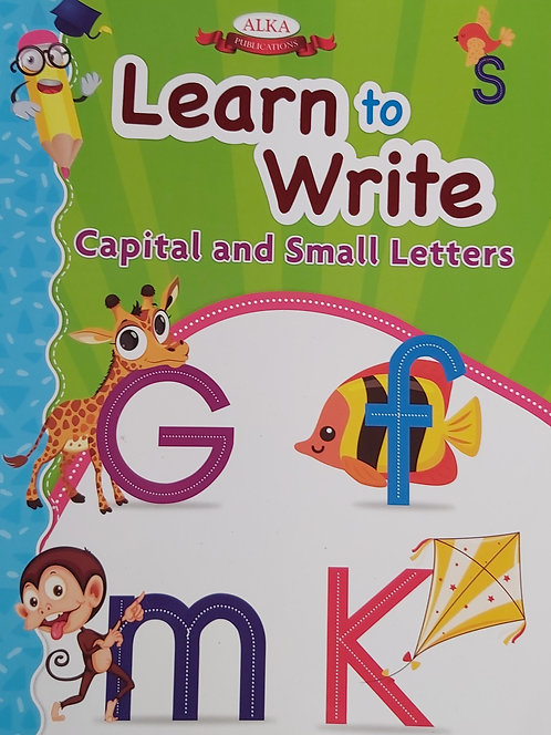 Learn To Write Capital & Small Letters