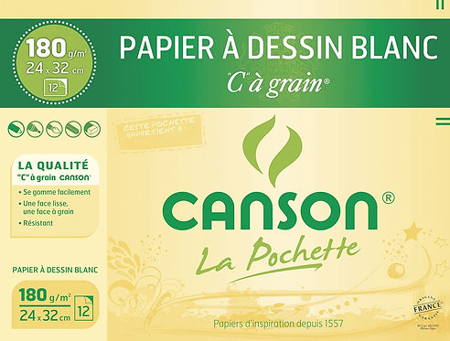 Canson® Pochette Papier Dessin Blanc 180g