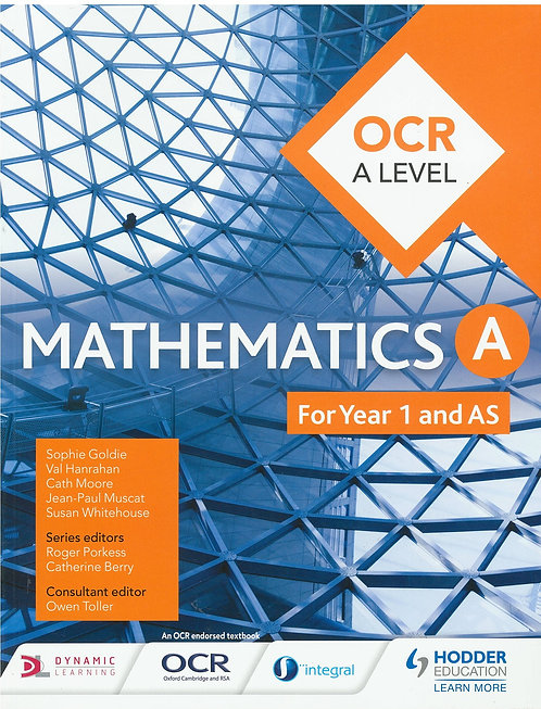Mathematics OCR A Level Year 1&2 - S.Goldie