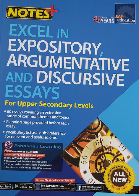 Notes+Excel In Expository,Argument& D Essays For Upper Sec L