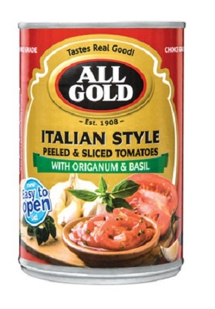 All Gold Sliced Tomatoes Italian Style 410g