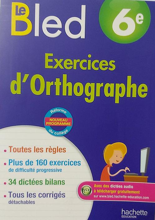 Cahier Bled Francais 6eme (Equivalent Grade 7)