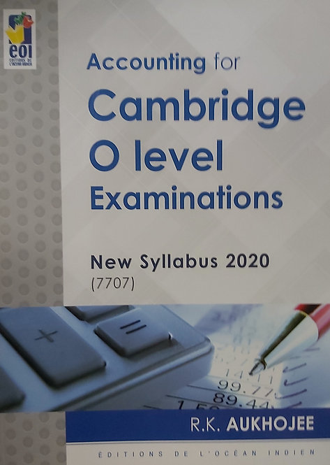 Accounting For Cambridge O Level