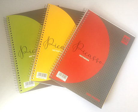 Side Spiral Pad A5 200Pg Picasso